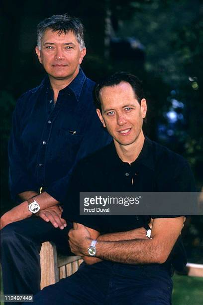 Richard E Grant adn Martin Shaw during The Scarlet Pimpernel photocall at London in London Great Britain
