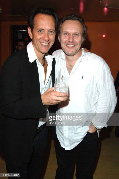 Richard E Grant and Anthony Head during 'Otherwise Engaged' Press Night After Party in London Great Britain