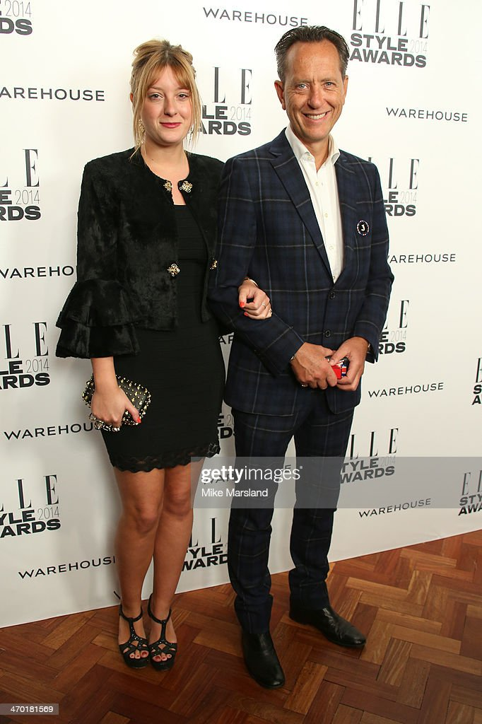 Richard E. Grant and guest attend the Elle Style Awards 2014 at one Embankment on February 18, 2014 in London, England.