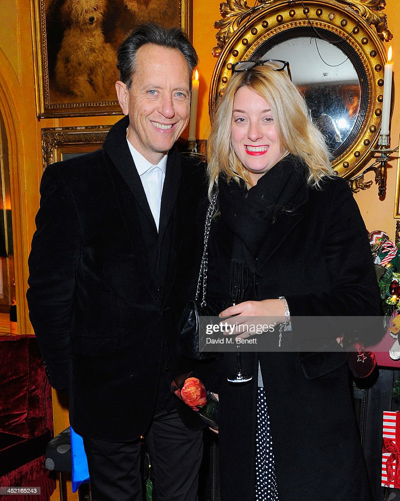 Richard E. Grant and guest attend Veuve Clicquot Style Party at Annabel's on November 26, 2013 in London, England.