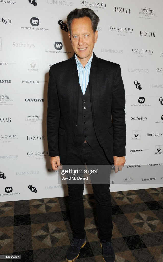 <a gi-track='captionPersonalityLinkClicked' href=/galleries/search?phrase=Richard+E.+Grant&family=editorial&specificpeople=160448 ng-click='$event.stopPropagation()'>Richard E. Grant</a> attends a BFI Luminous Gala ahead of the London Film Festival at 8 Northumberland Avenue on October 8, 2013 in London, England.