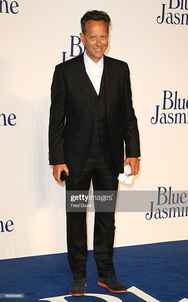 Richard E Grant attends the UK premiere of 'Blue Jasmine' at Odeon West End on September 17, 2013 in London, England.