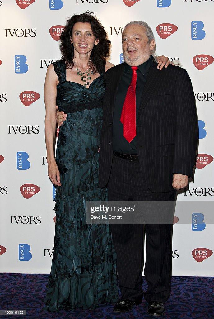 Richard Ellis and Helene Muddiman attend the 55th Ivor Novello Awards held at Grosvenor House Hotel on May 20, 2010 London, England.