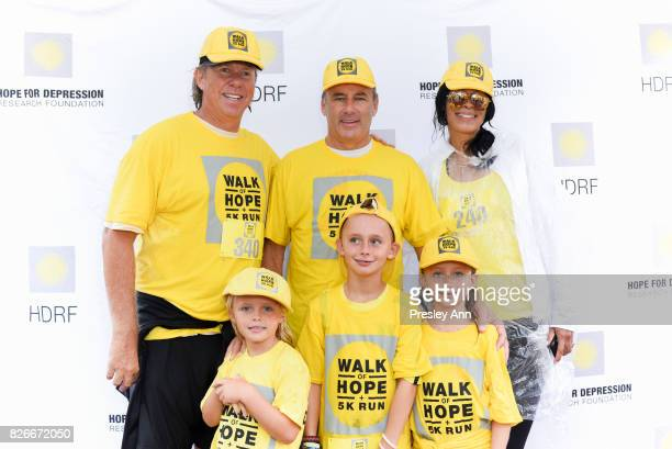 Richard Evans Campion Platt and Kim Heirston attend Hope for Depression Research Foundation's Walk of Hope 5K Run at Southampton Cultural Center on...