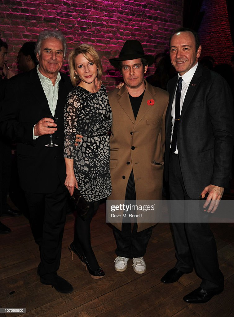 Richard Eyre, Lisa Dillon, Tom Hollander and Kevin Spacey attend the afterparty following the press night of 'A Flea In Her Ear' at Vinopolis on December 14, 2010 in London, England.