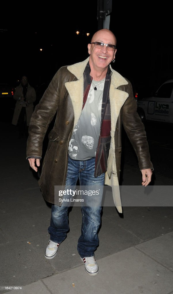 Richard Fairbrass attends the Private View of the 'David Bowie Is' Exhibition held at he Victoria and Albert Museum departures on March 20, 2013 in London, England.