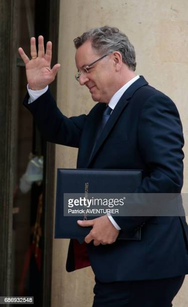 Richard Ferrand France's minister of Territorial Cohesion arrives for a cabinet meeting at the Elysée Palace in Paris France on May 18 2017
