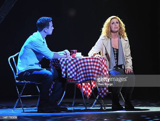 Richard Fleeshman and Caissie Levy perform from 'Ghost the Musical' onstage at the 66th Annual Tony Awards at The Beacon Theatre on June 10 2012 in...