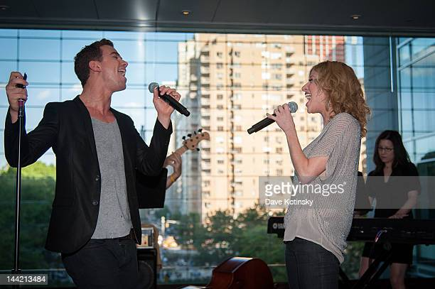 Richard Fleeshman and Caissie Levy perform the 'Ghost The Musical' special performance at the Time Warner Center on May 11 2012 in New York City