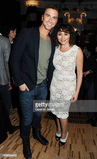 Richard Fleeshman and Frances Ruffelle attend the debut of her new one woman show 'Paris Original' at The Crazy Coqs on October 8 2013 in London...