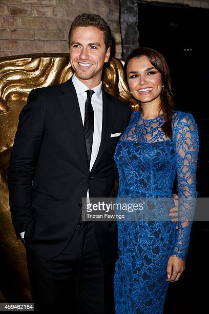 Richard Fleeshman and Samantha Barks attend the BAFTA Academy Children's Awards at London Hilton on November 23 2014 in London England