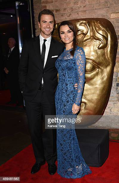 Richard Fleeshman and Samantha Barks attend the BAFTA Academy Children's Awards at the Roundhouse on November 23 2014 in London England