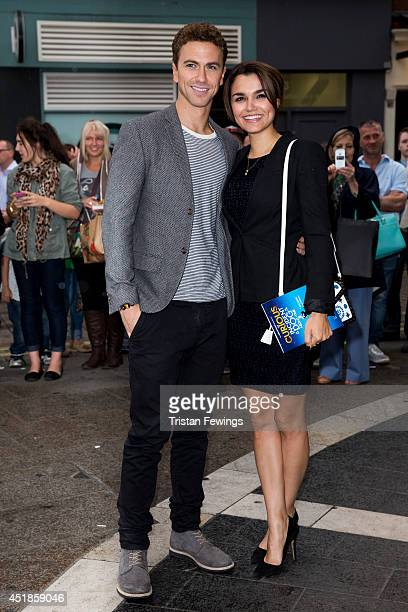 Richard Fleeshman and Samantha Barks attend the press night for 'The Curious Incident Of The Dog In The NightTime' at Gielgud Theatre on July 8 2014...