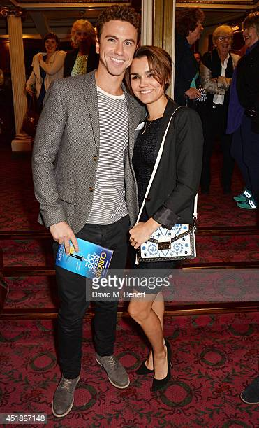 Richard Fleeshman and Samantha Barks attend the press night performance of 'The Curious Incident Of The Dog In The NightTime' at the Gielgud Theatre...