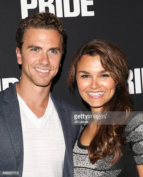 Richard Fleeshman and Samantha Barks attend the 'Pride' Los Angeles special screening on September 23 in Beverly Hills California