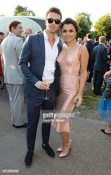 Richard Fleeshman and Samantha Barks attend The Serpentine Gallery Summer Party cohosted by Brioni at The Serpentine Gallery on July 1 2014 in London...