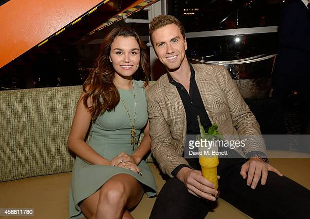 Richard Fleeshman and Samantha Barks attends as Sushisamba celebrates its second anniversary with a performance by Lily Allen and a VIP party at...