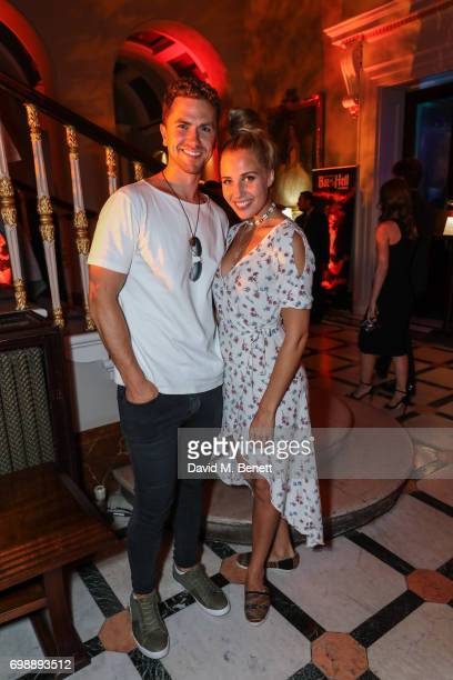 Richard Fleeshman and Selinda Schumacher attends the press night after party for 'Bat Out Of Hell The Musical' at The Institute of Directors on June...