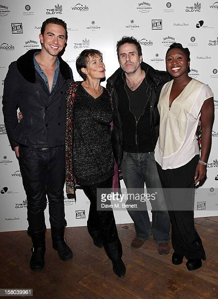 Richard Fleeshman Celia Imrie Con O'Neill and Cynthia Erivo attend an after party celebrating the 24 Hour Musicals Gala Performance at Vinopolis on...