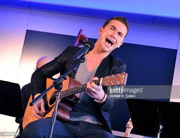 Richard Fleeshman visits at Apple Store West 14th Street on May 8 2012 in New York City