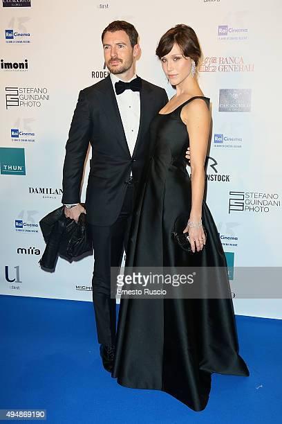Richard Flood and Gabriella Pession attend a photocall for the 'RAI Cinema 15th Anniversary' at Auditorium Della Conciliazione on October 29 2015 in...