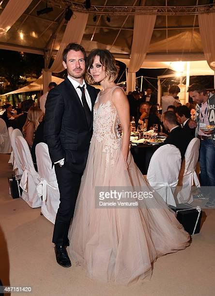 Richard Flood and Gabriella Pession attend the 'Kineo Award' Gala Dinner during the 72nd Venice Film Festival at on September 6 2015 in Venice Italy