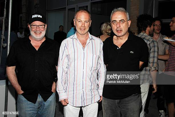 Richard Flood Benjamin Weil and Francesco Bonami attend 303 GALLERY Celebrates EXPANSION and NEW BUILDING with THURSTON MOORE THE VIRGINS KAREN...