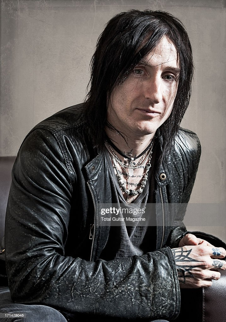 Richard Fortus, guitarist of American hard rock band Guns N Roses, photographed during a portrait shoot for Total Guitar Magazine, May 26, 2012.