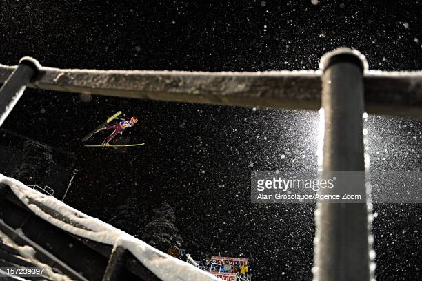 Richard Freitag of Germany competes during the FIS Ski Jumping World Cup Men's HS142 on November 30 2012 in Kuusamo Finland