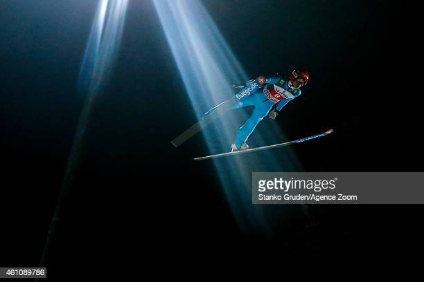 Richard Freitag of Germany during the FIS Ski Jumping World Cup Vierschanzentournee on January 06 2015 in Bischofhofen Austria