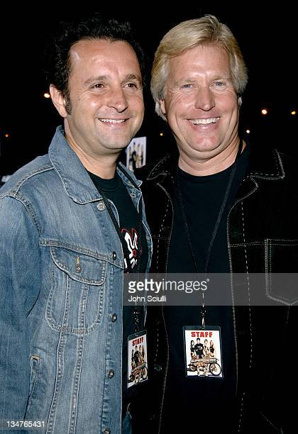 Richard Gabai and Steve Austin producers during 'Supercross' Los Angeles Premiere Red Carpet at Veterans Administration Complex in Westwood...