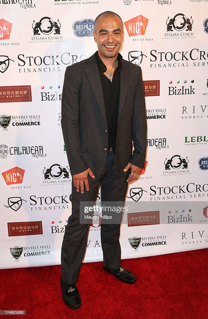 Richard Gallardo arrives at the 40th Anniversary StockCross Party on July 25, 2013 in Beverly Hills, California.