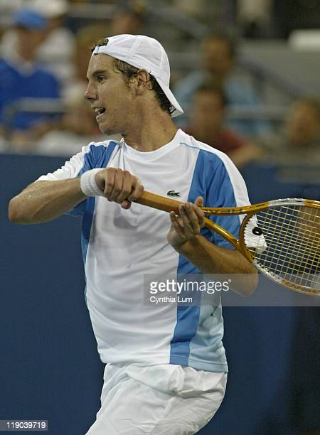 Richard Gasquet during his match against Giorgio Galimberti in the second round of the 2005 US Open at the USTA National Tennis Center in Flushing...