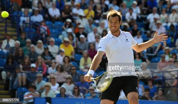 Richard Gasquet in action against Feliciano Lopez in the Men's Singles Final