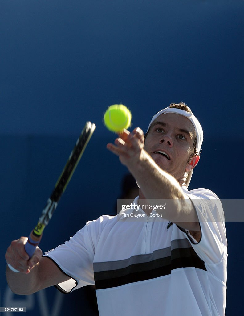 Richard Gasquet of France on his way to victory over his fellow countryman Gilles Simon during the men's second round match at the Medibank...