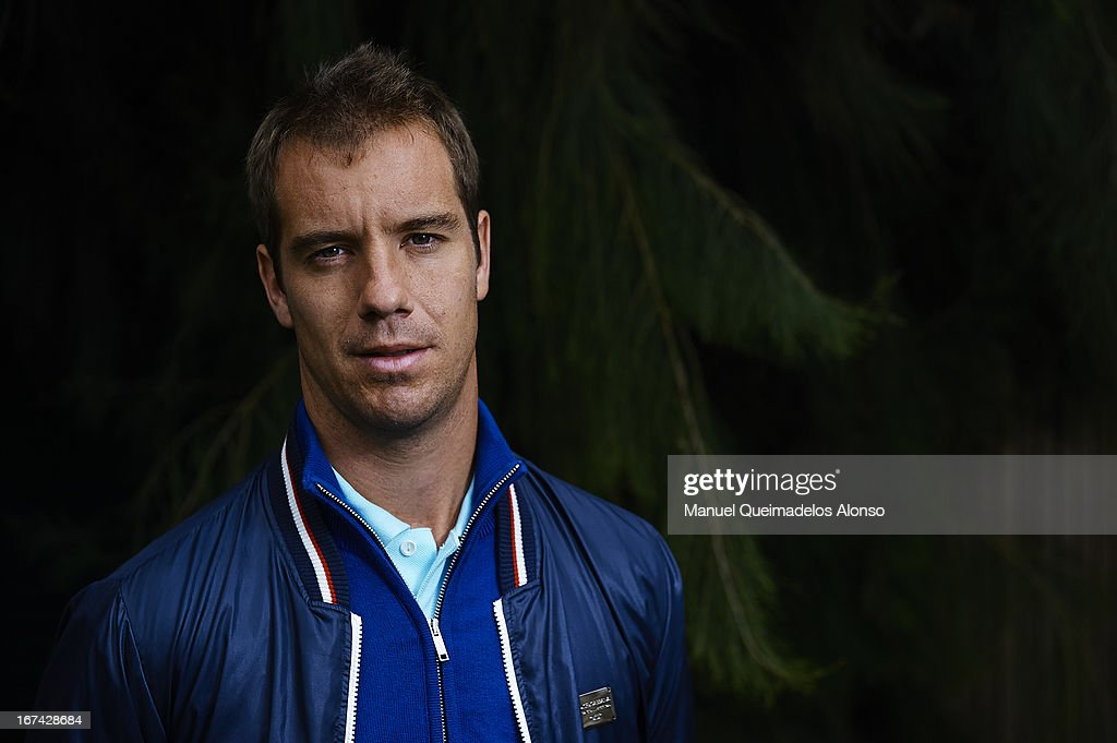 <a gi-track='captionPersonalityLinkClicked' href=/galleries/search?phrase=Richard+Gasquet&family=editorial&specificpeople=206501 ng-click='$event.stopPropagation()'>Richard Gasquet</a> of France poses during the ATP 500 World Tour Barcelona Open Banc Sabadell 2013 tennis tournament at the Real Club de Tenis on April 25, 2013 in Barcelona, Spain.