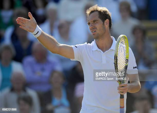 Richard Gasquet rues a missing chance against Feliciano Lopez in the Men's Singles Final