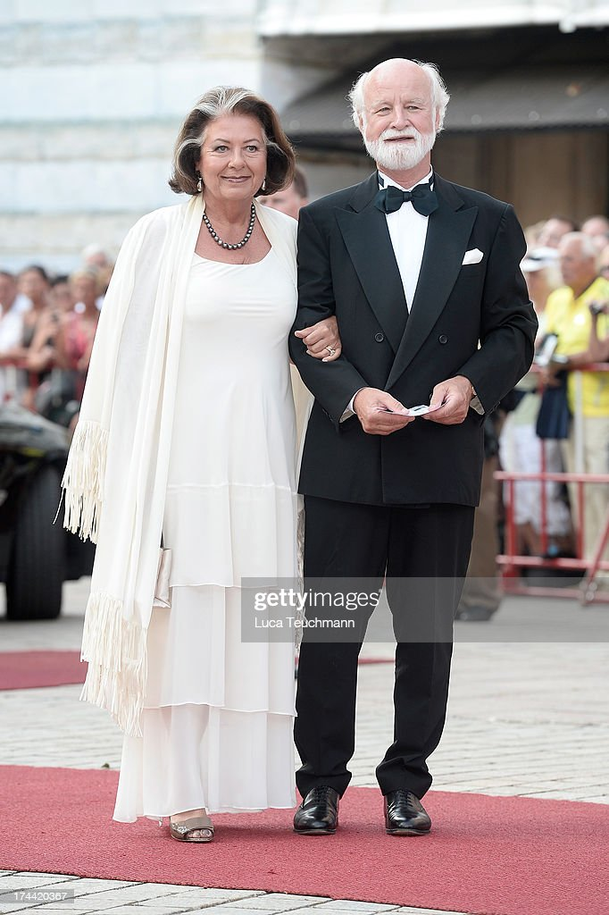 Richard Gaul and Sibylle Zehle attend the Bayreuth Festival opening on July 25, 2013 in Bayreuth, Germany.