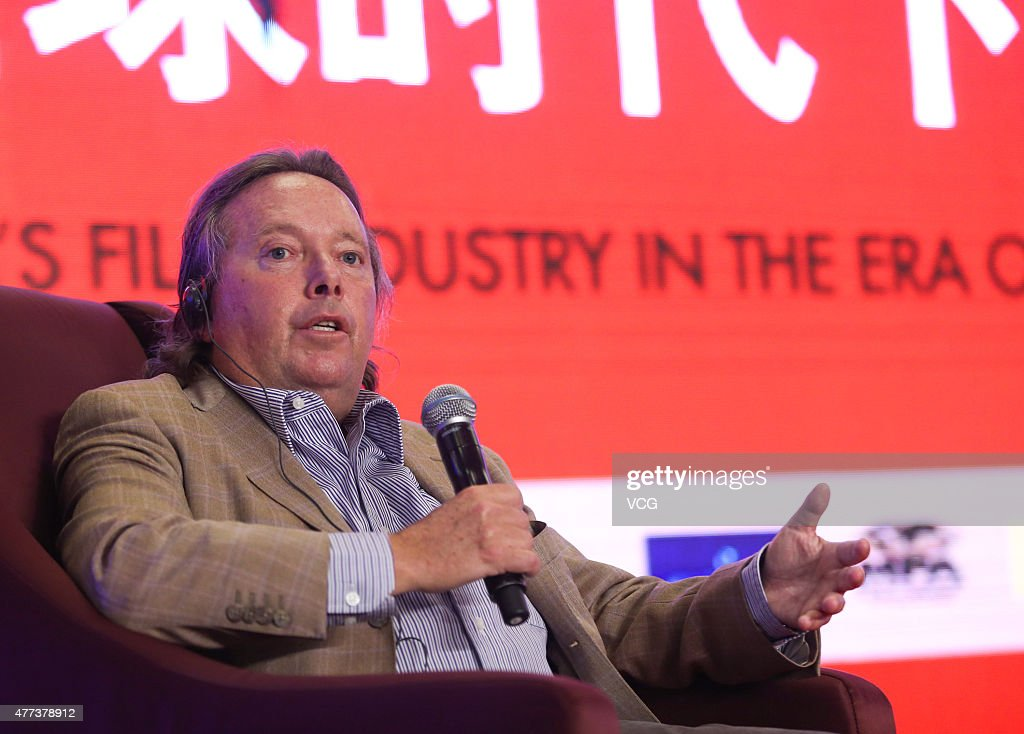Richard Gelfond chief executive officer of Imax Corp speaks at the China's Film Industry in the era of Globalization as part of the 18th Shanghai...