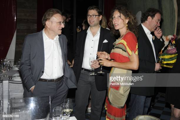 Richard Geoffroy Laurent Boidevezi and Jacqueline Schnabel attend Dom Perignon and Vito Schnabel dinner in celebration of Terence Koh's book 'Flowers...