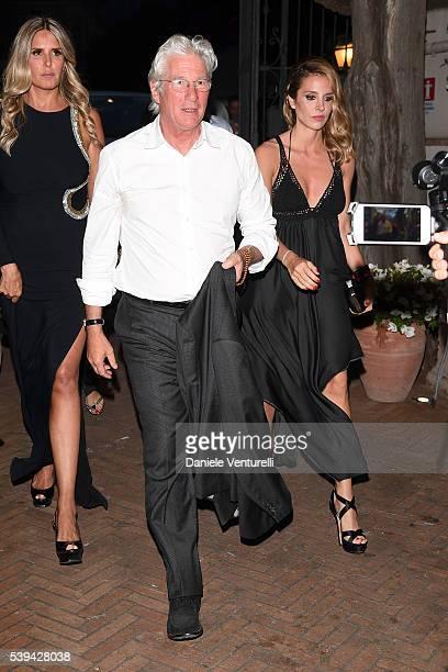 Richard Gere and Alejandra Silva attend 62 Taormina Film Fest Opening on June 10 2016 in Taormina Italy