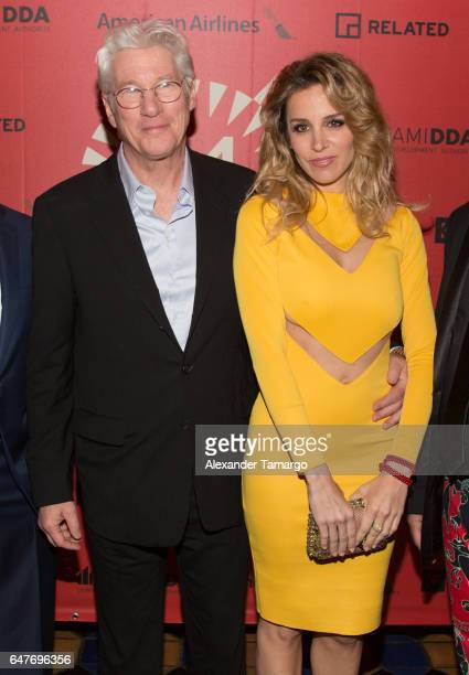 Richard Gere and Alejandra Silva attend the Miami International Film Festival on March 3 2017 in Miami Florida