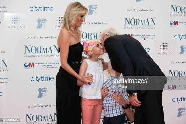 Richard Gere and Alejandra Silva Attend the 'NORMAN' Spanish premiere at Callao Cinema in Madrid on May 31 2017