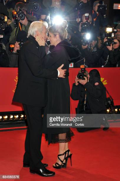 Richard Gere and Alejandra Silva attend the 'The Dinner' premiere during the 67th Berlinale International Film Festival Berlin at Berlinale Palace on...
