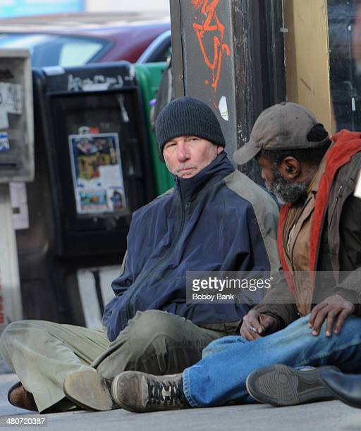 Richard Gere and Ben Vereen on the set of 'Time Out Of Mind' on March 26 2014 in New York City