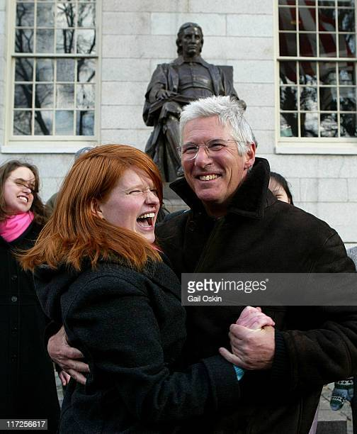 Richard Gere and Caitlin Campbell during Richard Gere is Named Hasty Pudding Theatricals' 2006 Man of the Year at Harvard University in Cambridge...