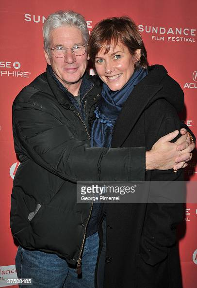 Richard Gere and Carey Lowell attend the 'Arbitrage' Premiere at the Eccles Center Theatre during the 2011 Sundance Film Festival on January 21 2012...