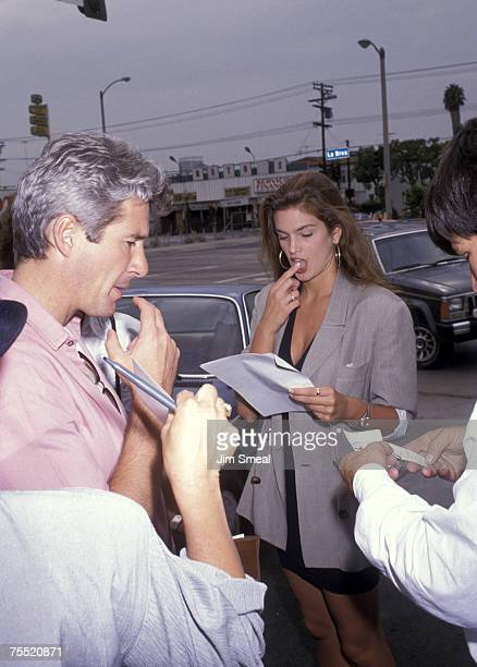 Richard Gere and Cindy Crawford at the City Restaurant in Los Angeles California