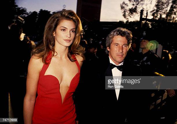 Richard Gere and Cindy Crawford at the Shrine Auditorium in Los Angeles California