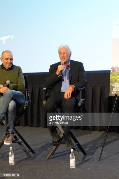 Richard Gere and director Jospeh Cedar at the screening of the film Norman at the ArcLight cinemas in Sherman Oaks California on April 4 2017